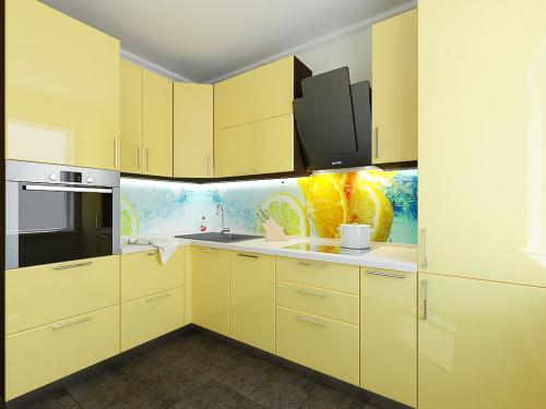 желтая кухня эмаль