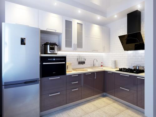 кухня эмаль с фрезеровкой