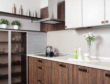 Кухня с фасадами из пластика GetaLit