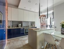 кухня синяя эмаль